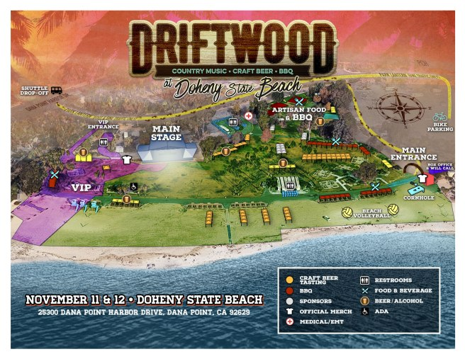 Driftwood Country Music Festival Dana Point CA 2017 Venue Map
