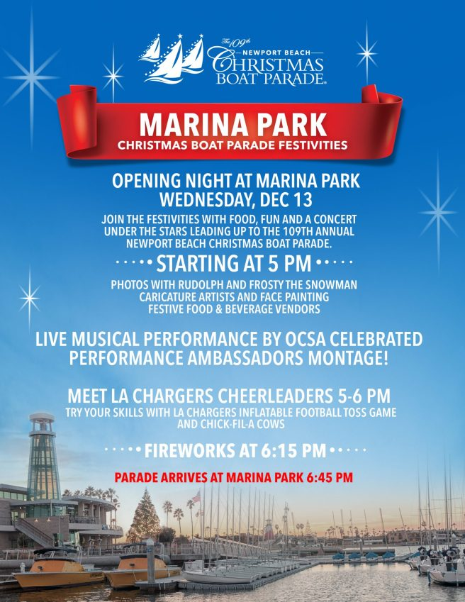 Newport Beach Christmas Boat Parade 2017 Marina Park Opening Night
