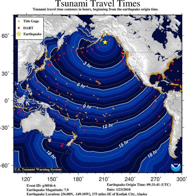 Tsunami Alert California Janaury 23 2018