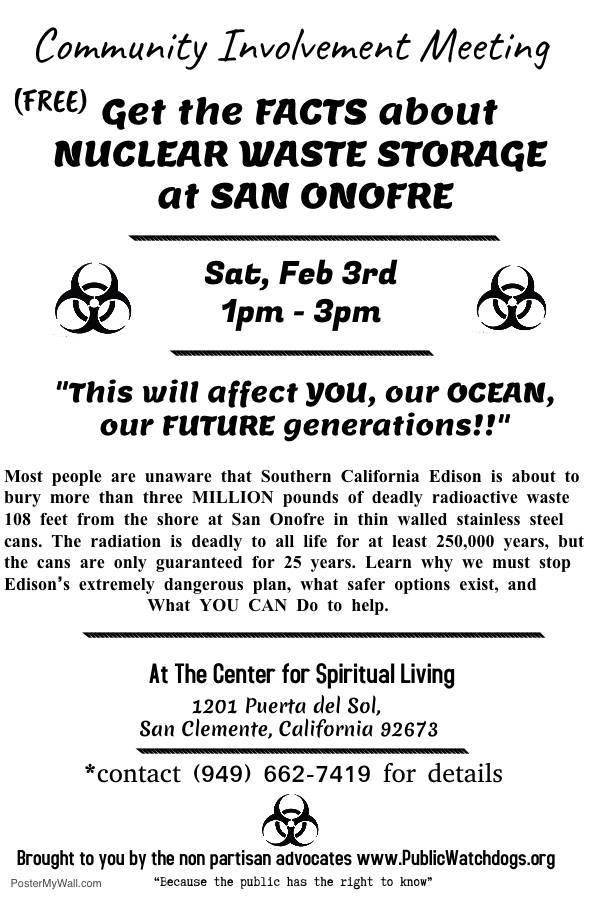 San Clemente No Nukes February 3 2018