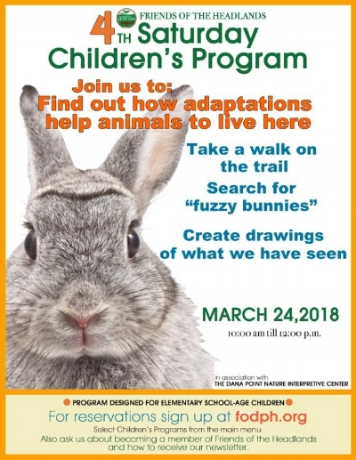 Friends of the Dana Point Headlands March 24 2018