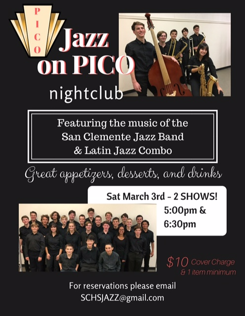 San Clemente High School Jazz Band Concert March 3 2018