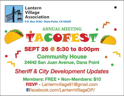 Dana Point Lantern Village Association Taco Fest 2018