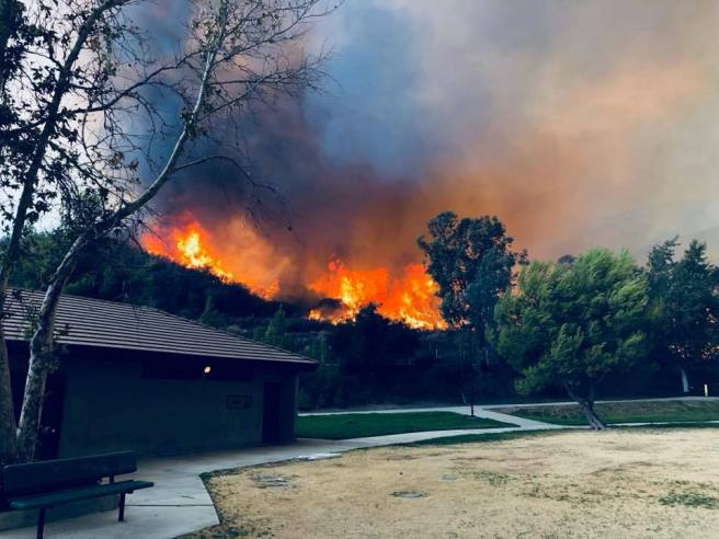 Holy Fire August 11 2018 Courtesy of U.S. Forest Service Cleveland National Forest