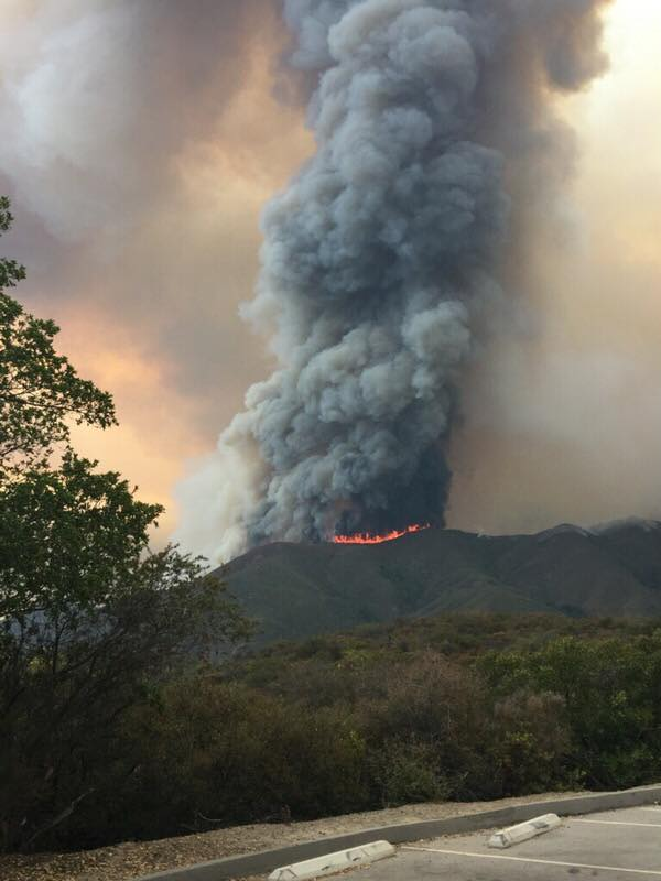 Holy Fire August 9 2018 Courtesy of U.S. Forest Service-Cleveland National Forest