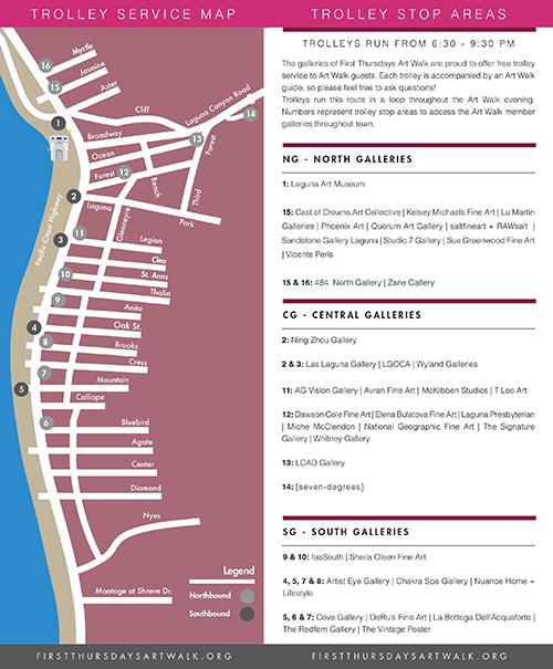 Laguna Beach First Thursdays Art Walk Map Summer 2018