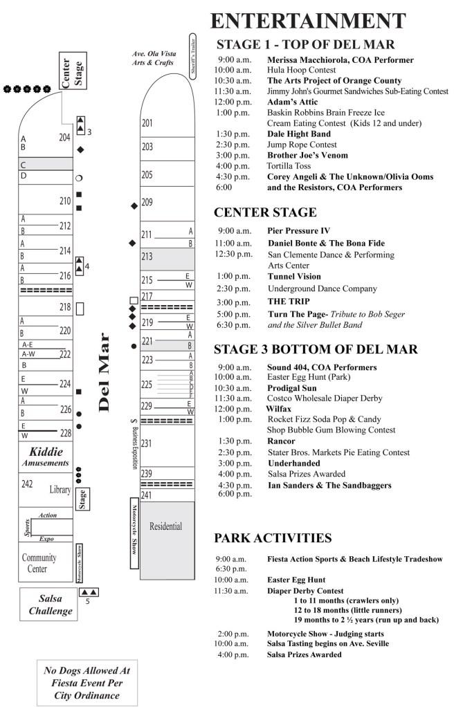 San Clemente Fiesta Music Festival 2018 Entertainment Schedule