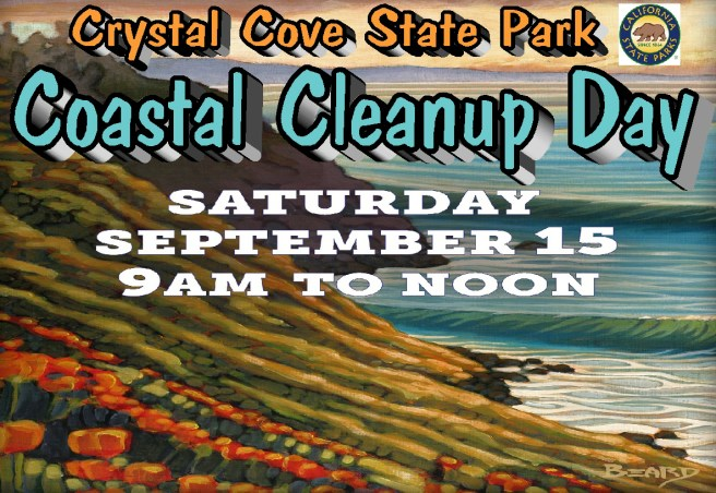 Crystal Cove Coastal Cleanup Day September 15 2018