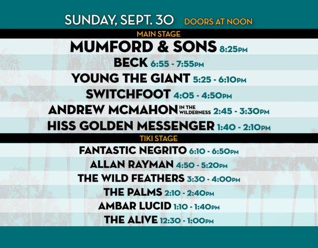 Dana Point Ohana Fest Sunday September 30 2018 Set Times