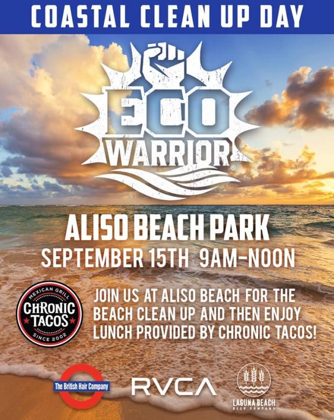 Laguna Beach Aliso Beach Cleanup September 15 2018