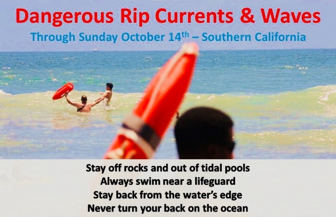 Dangers Rip Currents & Waves October 14 2018