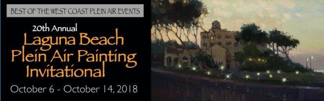 Laguna Beach Plein Air Painting Invitational October 6 thur October 14 2018