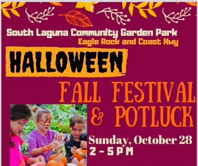 South Laguna Community Garden Halloween Potluck October 28 2018