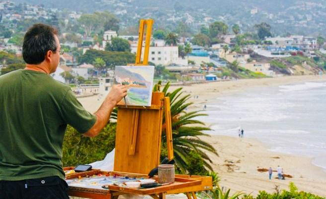 Laguna Beach Plein Air Painting Courtesy of KarinHorlick.com