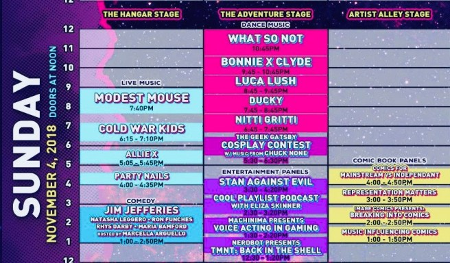 Big Adventure Fest Sunday November 4 2018 Schedule