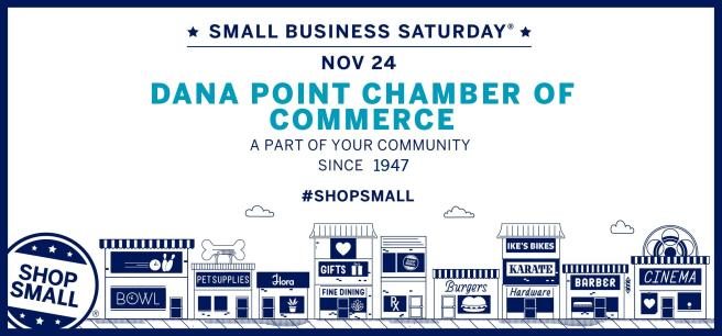 Dana Point Small Business Saturday Novemer 24 2018