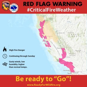 Red Flag Warning CA Fire PSA November 10 -11 2018