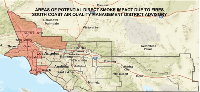 Los Angeles County Smoke Advisory November 13 2018