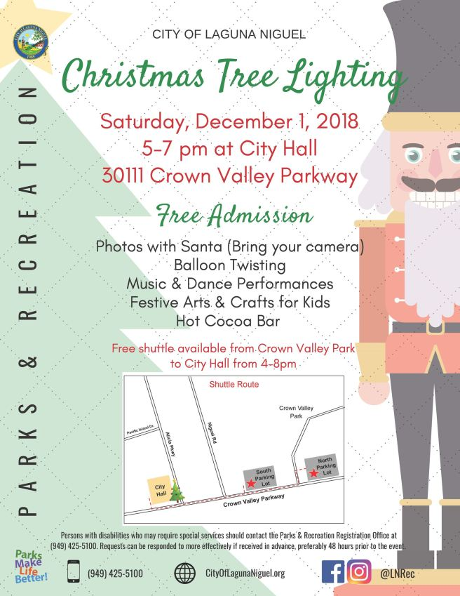 Laguna Niguel Tree Lighting December 1 2018