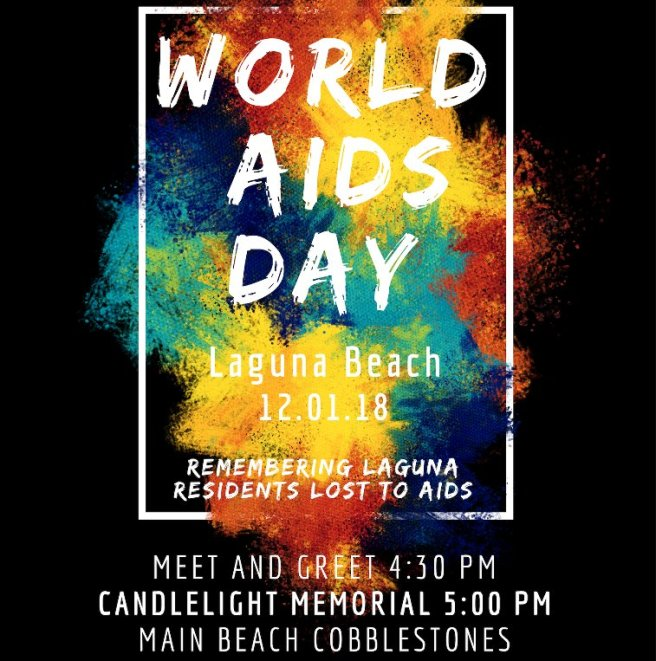 Laguna Beach World Aids Day 12-01-18