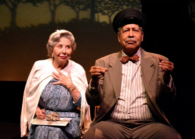 "Michael Learned and Lance E. Nichols star in the Laguna Playhouse production of ""DRIVING MISS DAISY"" by Alfred Uhry, directed by Michael Bloom and now playing at the Laguna Playhouse in Laguna Beach."