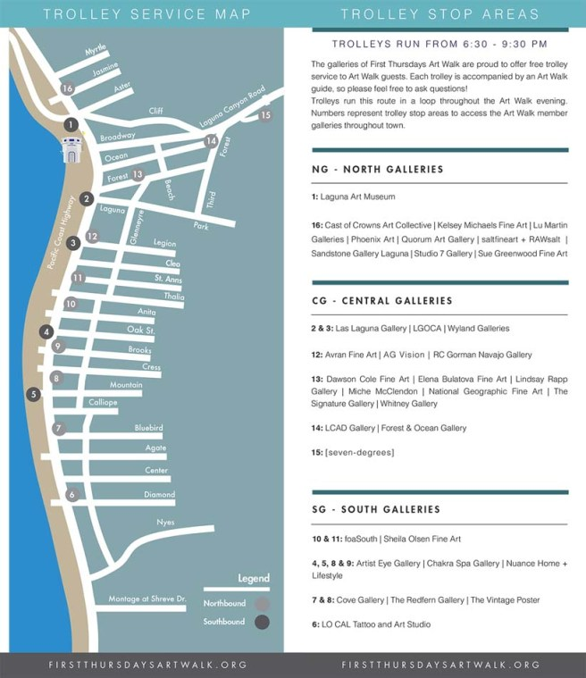 Laguna Beach First Thursdays Art Walk 2019 Map