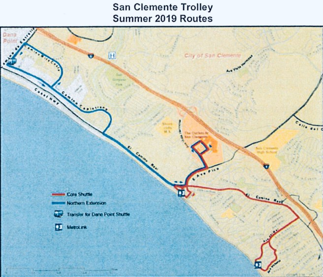 San Clemente Trolley 2019 Proposed Map