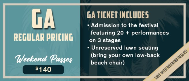 Doheny Blues Festival 2019 General Admission Weekend Passes