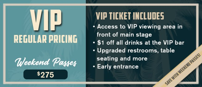 Doheny Blues Festival 2019 VIP Weekend Passes