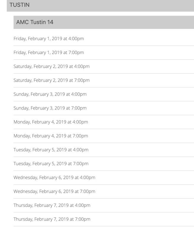 Black Panther Free Showing at AMC Tustin February 2019