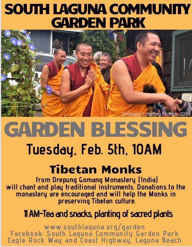South Laguna Garden Park Monk Blessing 10-00am February 5 2019