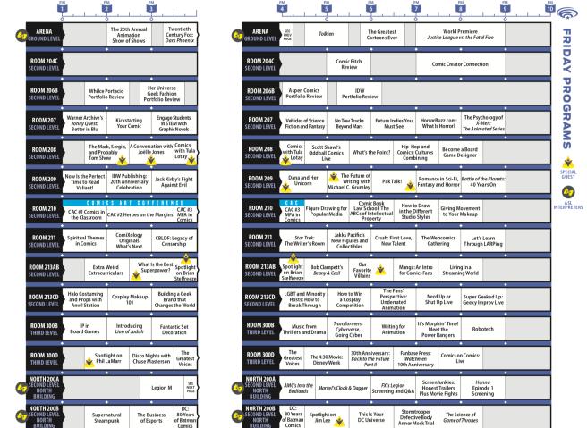 Wondercon Friday March 29 2019 Schedule