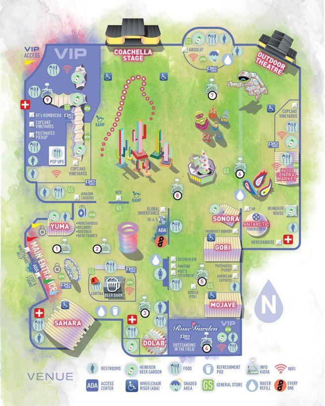 Coachella 2019 Festival Map