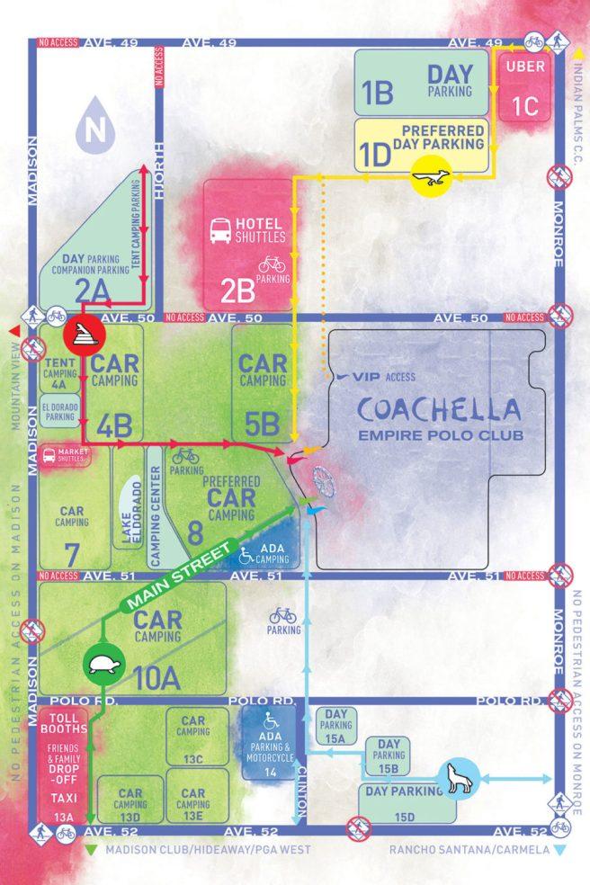 Coachella 2019 Parking Map