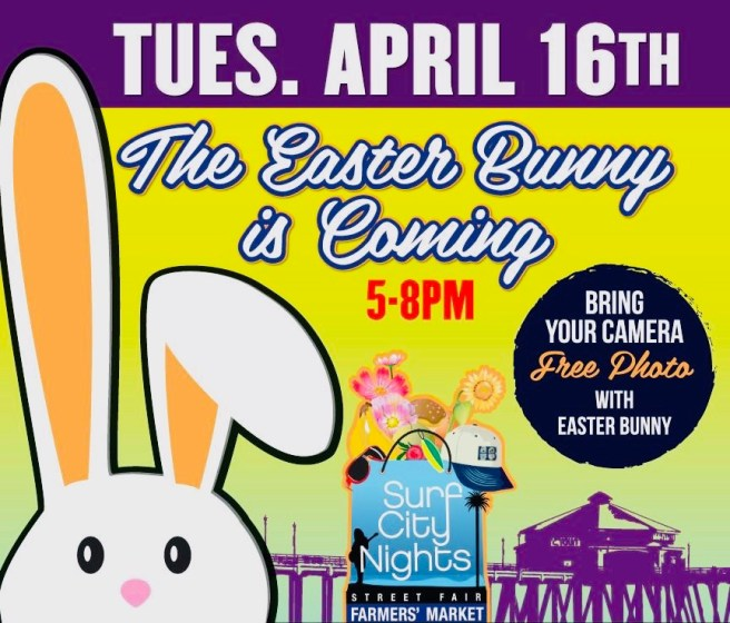 Huntington Beach Surf City Nights Easter Bunny Event April 16 2019