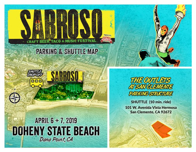 Sabroso Doheny State Beach April 6 & 7 2019 Parking and Shuttle Map
