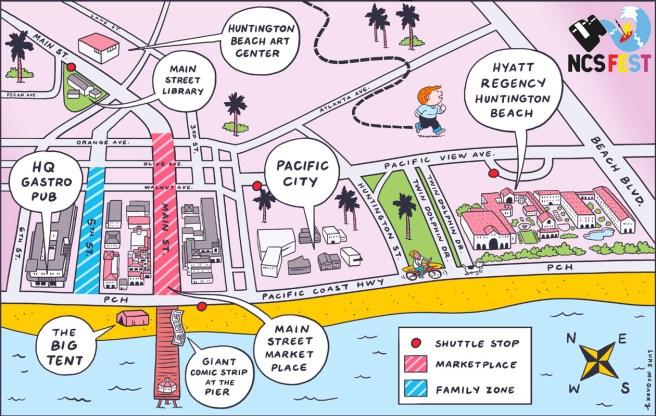 Huntington Beach NCS Fest May 2019 Map