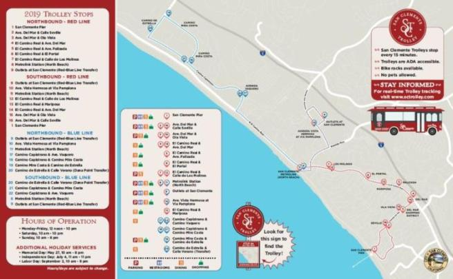 San Clemente Trolley Summer 2019 Map