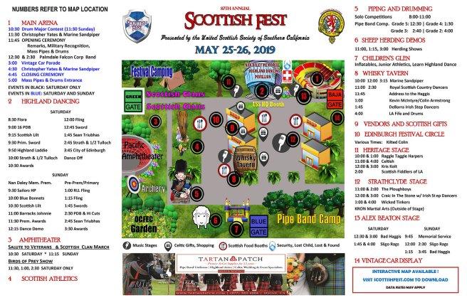 Scottish Fest May 25-26 2019 Orange County California Event Map