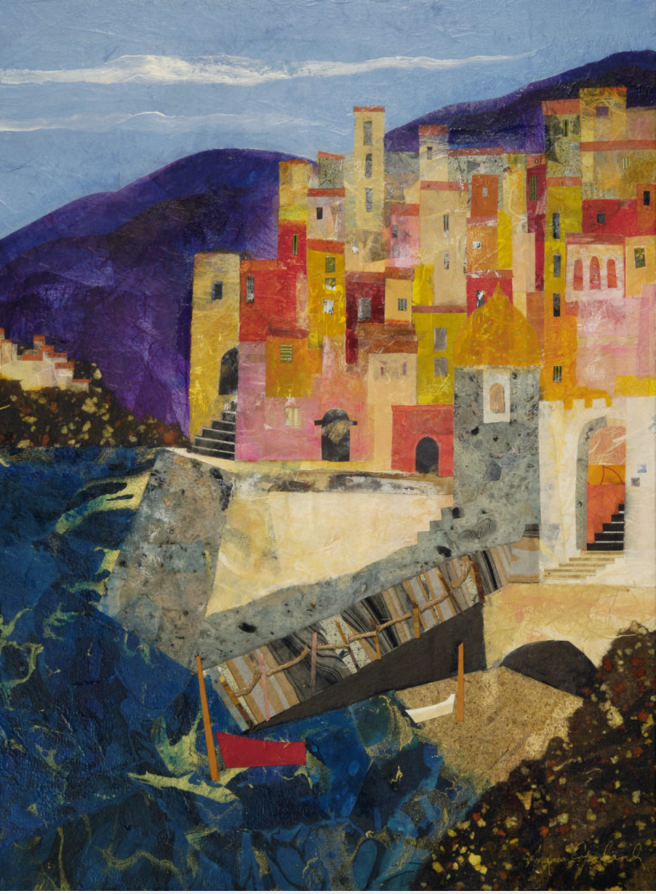 Collage Art Workshop by Agnes Copeland at Laguna Beach Art A Fair Mondays Summer 2019