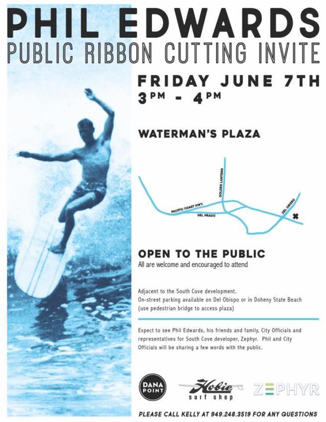 Surfer Phil Edwards Statue Dana Point California June 7 2019