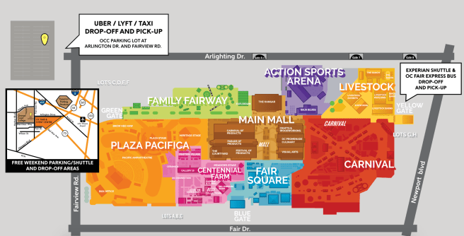 Orange County Fair 2019 Event Map