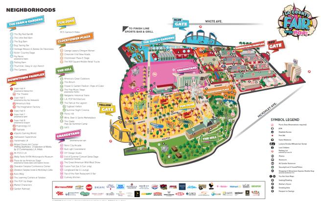 LA County Fair 2019 Map