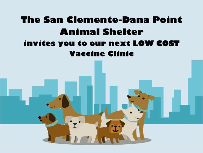 San Clemente Dana Point Animal Shelter Vaccine Clinic September 11 2019