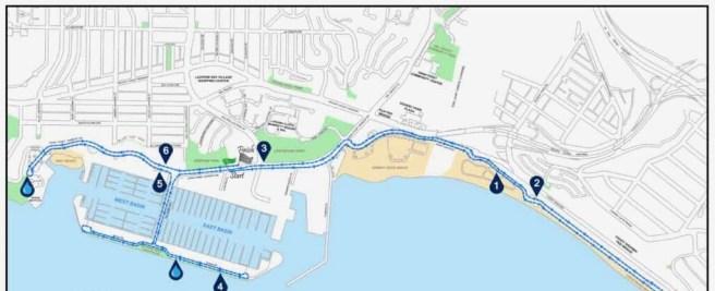 Dana Point California Turkey Trot 10 K Course Map