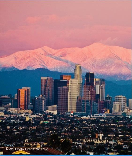 Southern California Snow Day Courtesy of W. Reid NWS