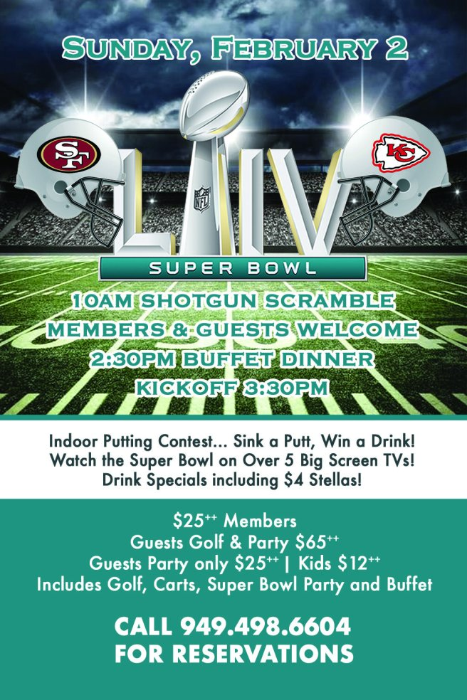 San Clemente Bella Collina Super Bowl Party February 2 2020