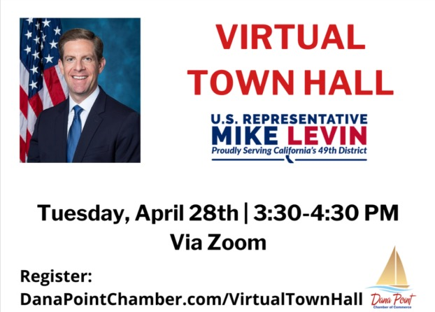 Dana Point Chamber and Mike Levin Virtual Town Hall April 28 2020