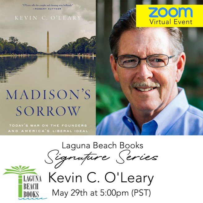Laguna Beach Books Live Zoom Event with Author Kevin C. O'Leary May 29 2020
