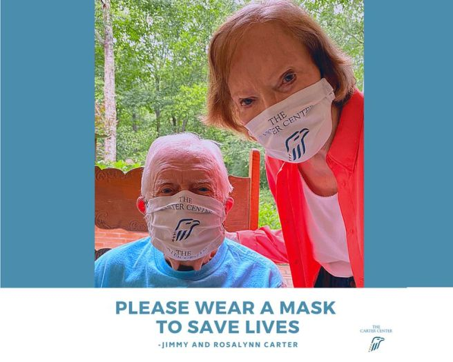 Jimmy and Rosalynn Carter Please Wear A Mask PSA Courtesy of The Carter Center